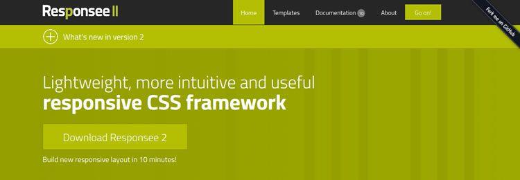 Responsee II A lightweight responsive CSS framework