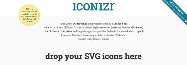 iconizr A tool for converting SVG images to a set of CSS icons