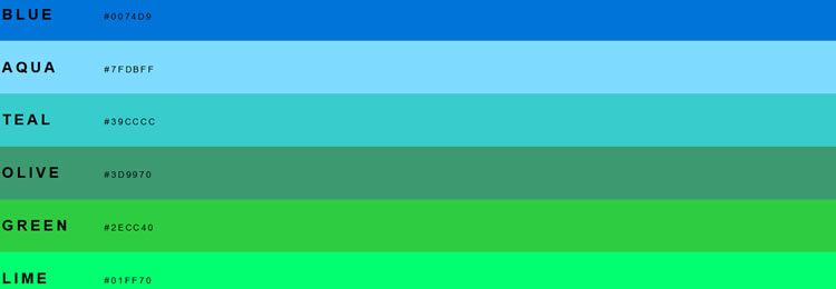 Colors SASS/LESS/Stylus/CSS variables and CSS classes of a better color paletter for the web