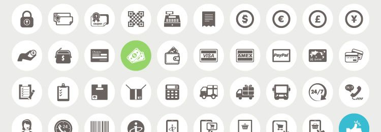 70 Ecommerce and Shopping Icons