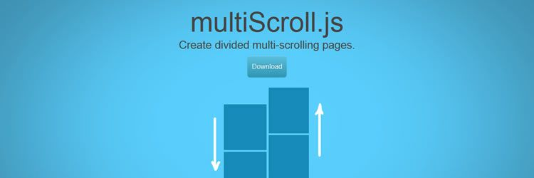 multiscroll.js is a simple jQuery plugin for creating multi scrolling websites in this weeks designer news