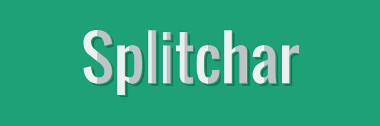 Splitchar is a jQuery plugin that allows you to style and design the first, second or both halves of a character in this weeks designer news