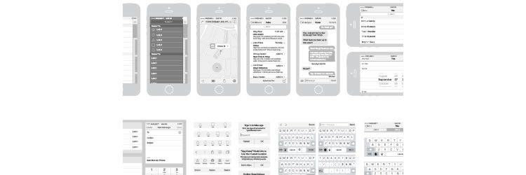 iPhone Vector Wireframing Toolkit in this weeks designer news