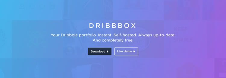 Dribbbox is a completely free self-hosted Dribbble portfolio template