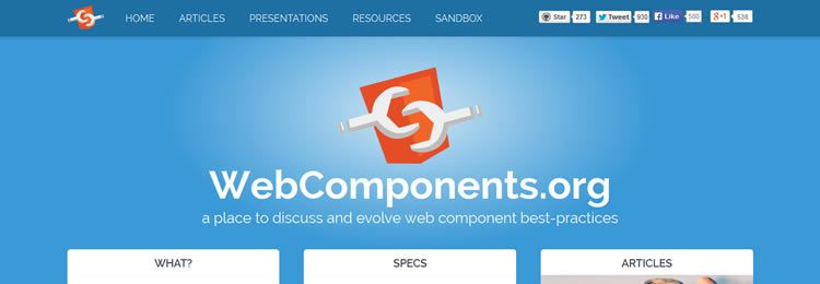 WebComponents.org is is a new resource where community-members of the Web Components ecosystem