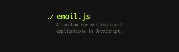 Email.js is a set of components that can be used to write email apps in pure JavaScript