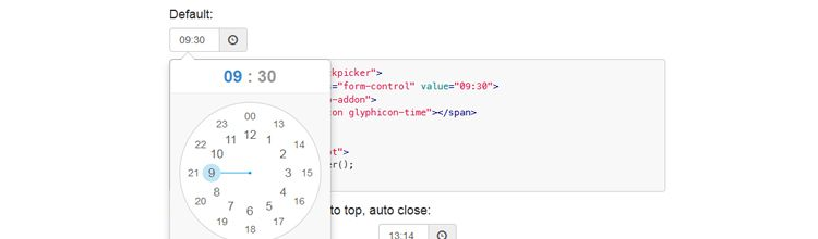 ClockPicker is a clock-style timepicker for either Bootstrap or jQuery