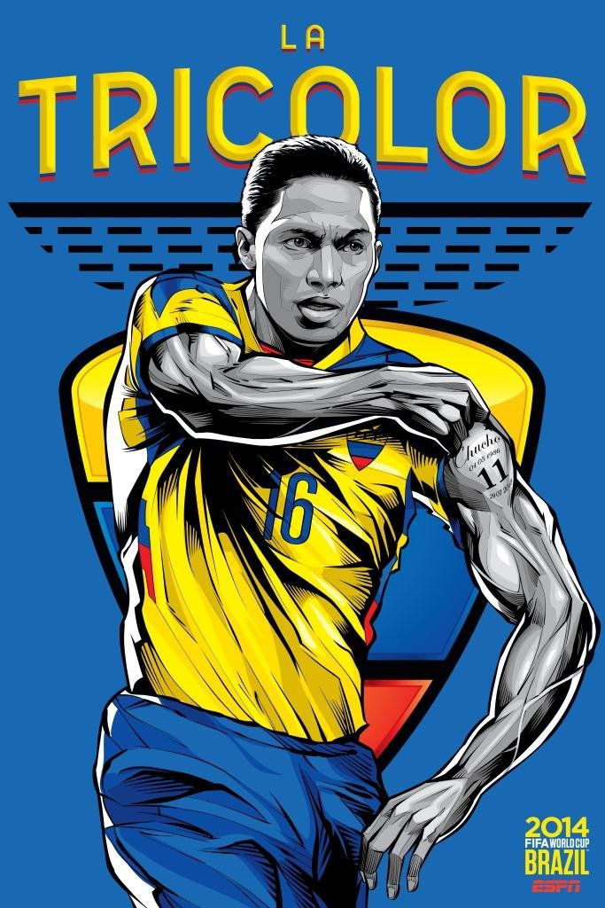 ESPN poster world cup brazil 2014 of Ecuador