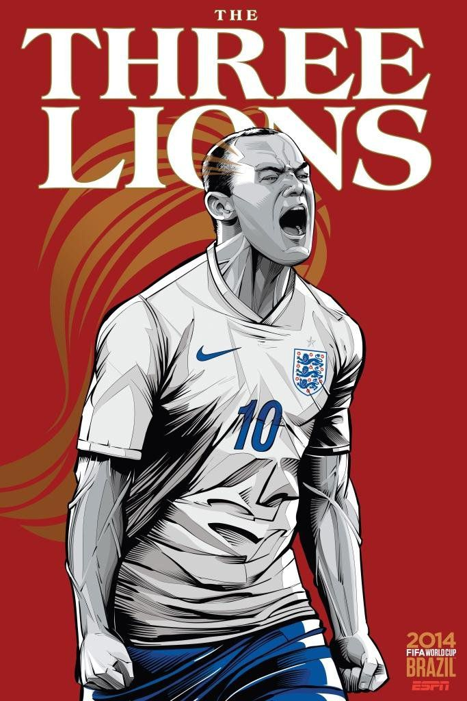 ESPN poster world cup brazil 2014 of England