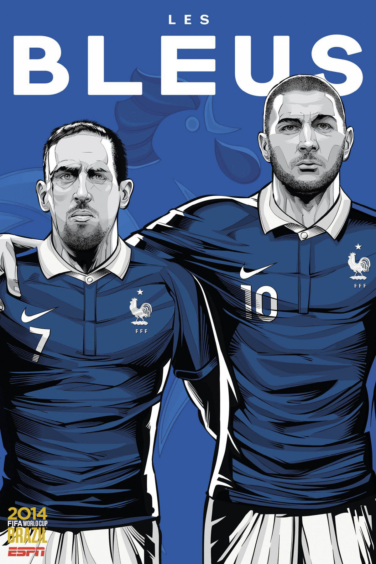 ESPN poster world cup brazil 2014 of France