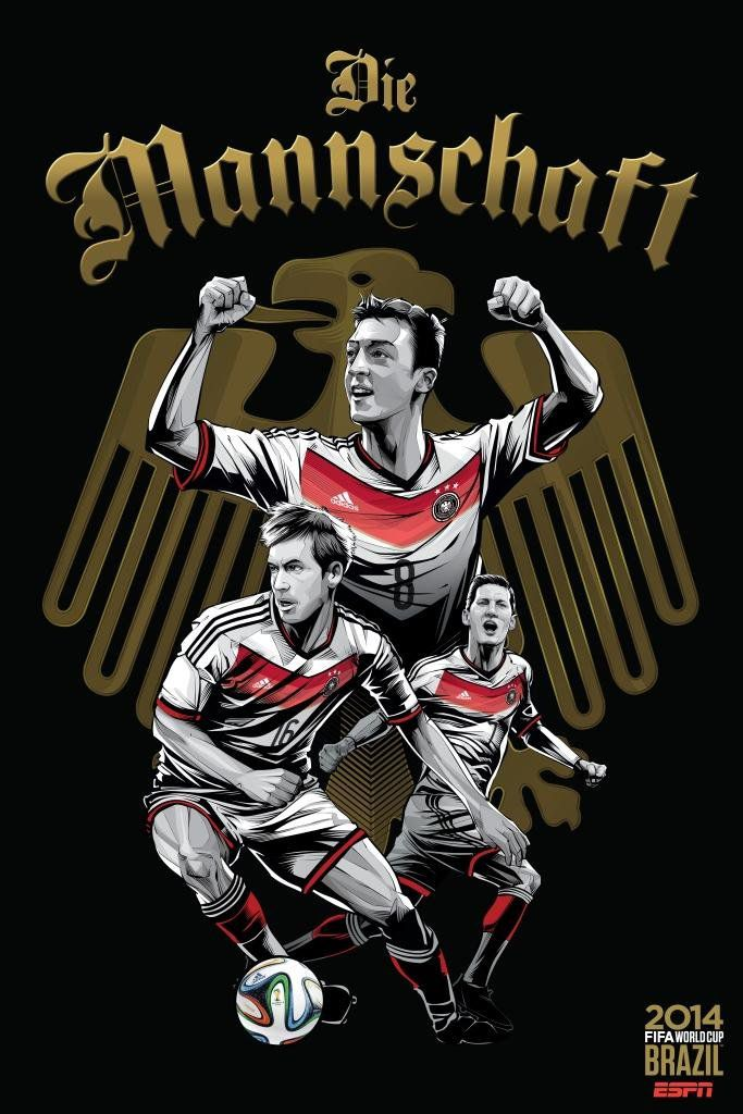 ESPN poster world cup brazil 2014 of Germany