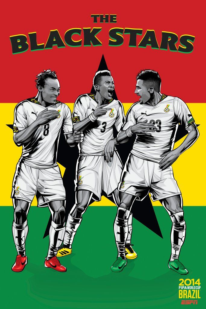 ESPN poster world cup brazil 2014 of Ghana