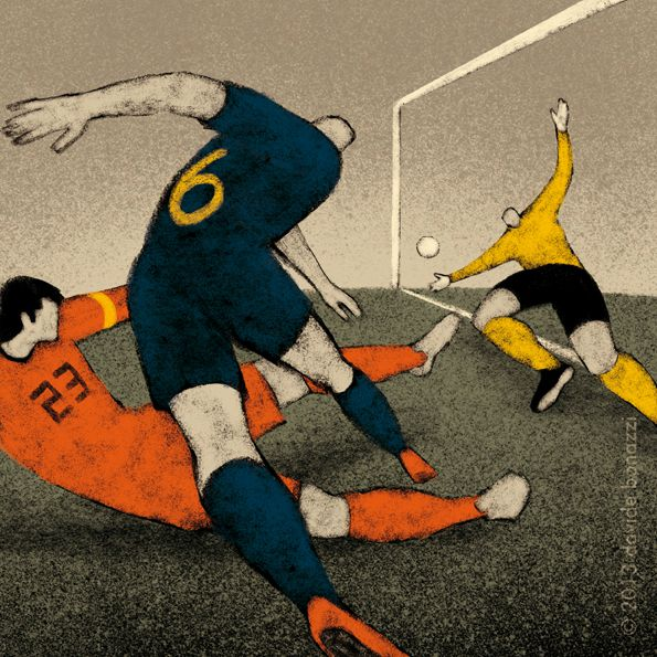 South Africa 2010 Andres Iniesta gives Spain their first world title World Cup Illustration