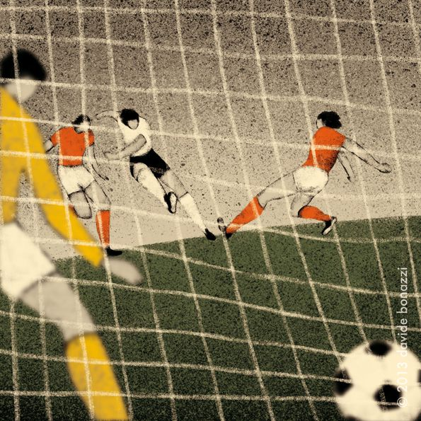 West Germany 1974 Gerd Müller scores the last goal against holland