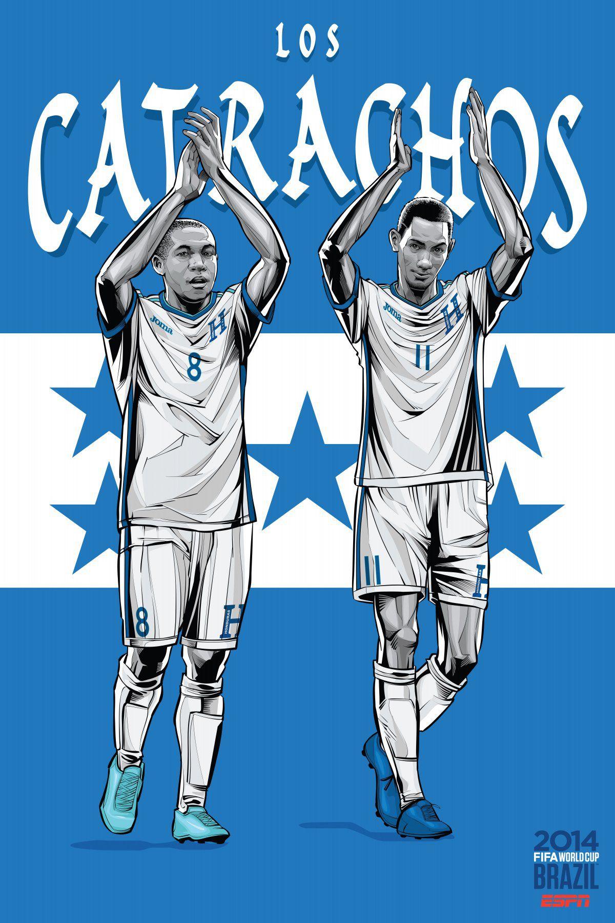 ESPN wordld cup poster brazil 2014 of Honduras