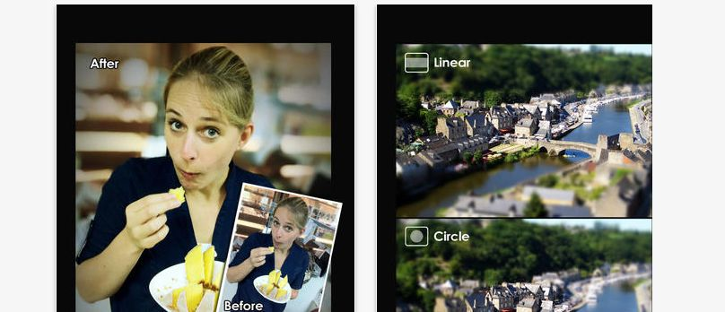 Big Lens is an app that allows you to manipulate the depth of field in your shots at an advanced level