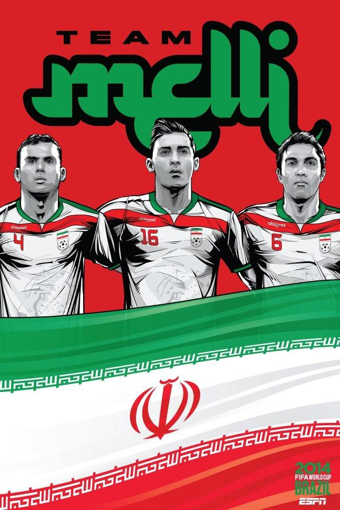 ESPN poster world cup brazil 2014 of Iran