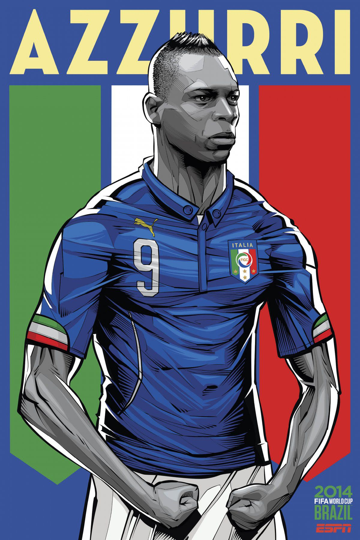 ESPN poster world cup brazil 2014 of Italy