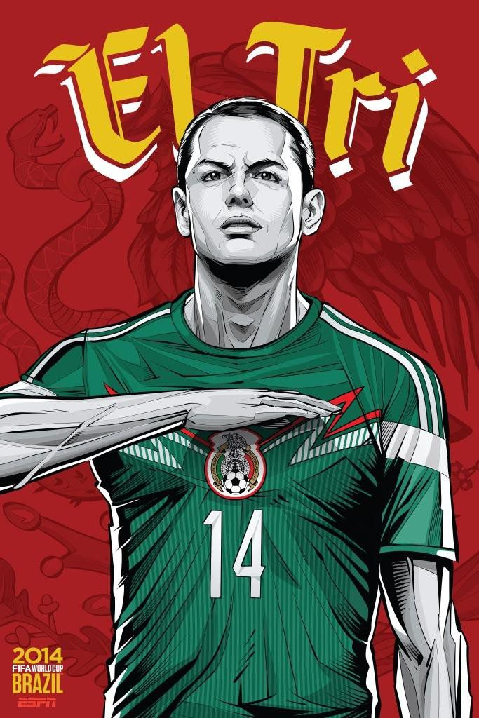 ESPN poster world cup brazil 2014 of Mexico