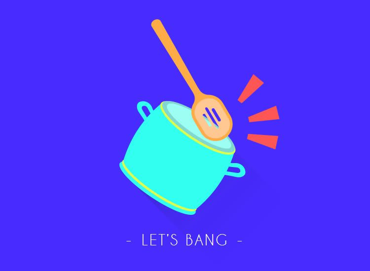 Let's Bang modern romance illustation flat design digital era