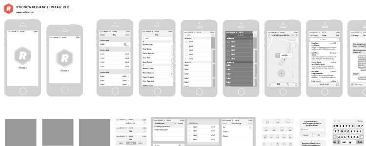 web designers free iPhone Vector Wireframing Toolkit AI may