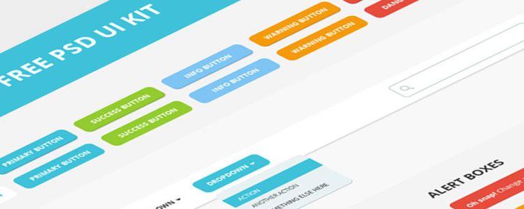 web designers free UI KIT PSD may