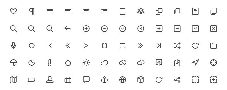 web designers free Feather Icons 130 Icons PSD CSH SVG Webfont may
