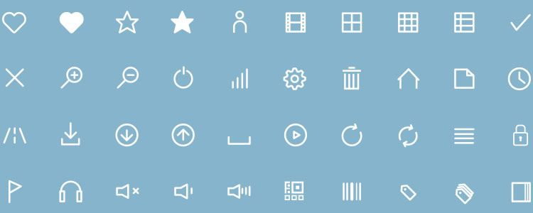 freebie for designers Flat Line Icons 50 Icons AI EPS Icon Font may