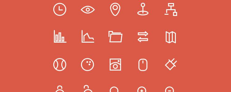 freebie for designers 3px Icons Set 80 Icons AI PSD may