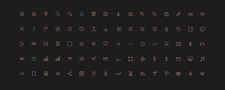 web designers free Stroke Icons 80 Icons PSD AI Icon Font may