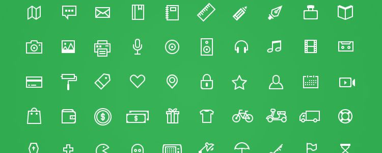 freebie for designers Odincons 1.0 100 Icons PSD may