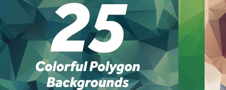 freebie for designers Colorful Polygon Backgrounds may