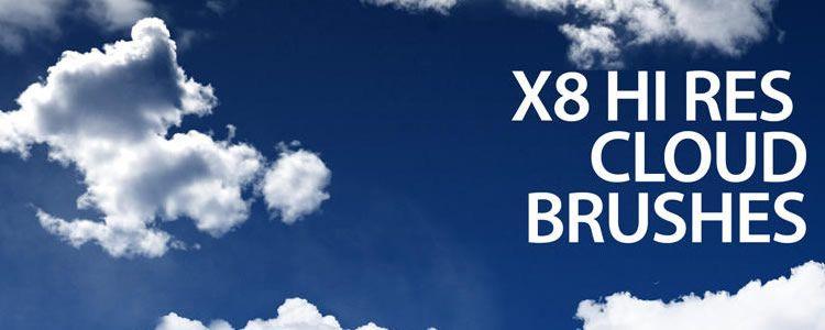 web designers free Photoshop Cloud Brushes 8 Brushes may