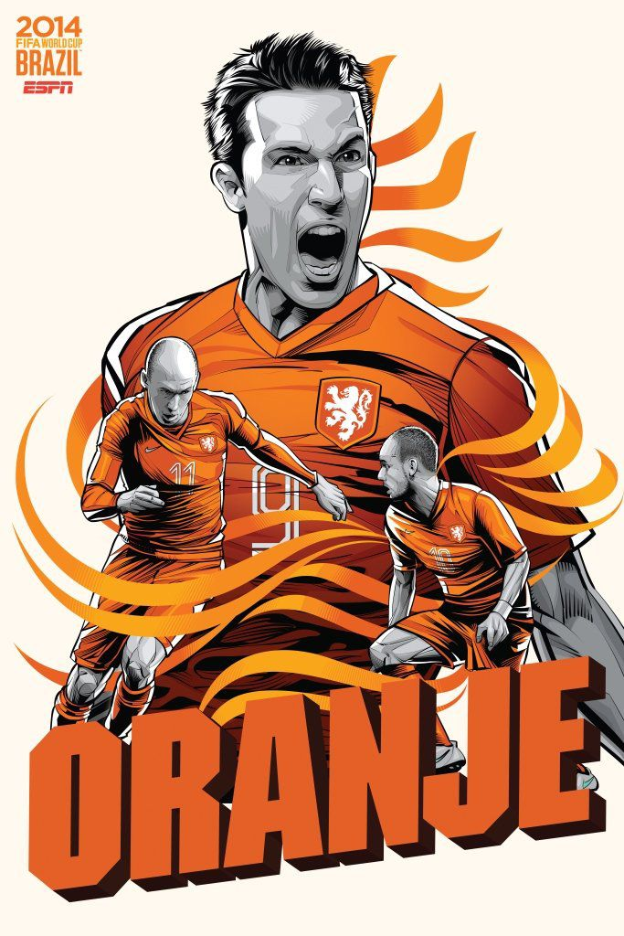ESPN wordld cup poster brazil 2014 of Netherlands