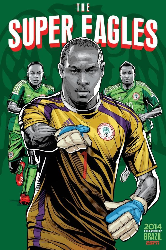 ESPN poster world cup brazil 2014 of Nigeria