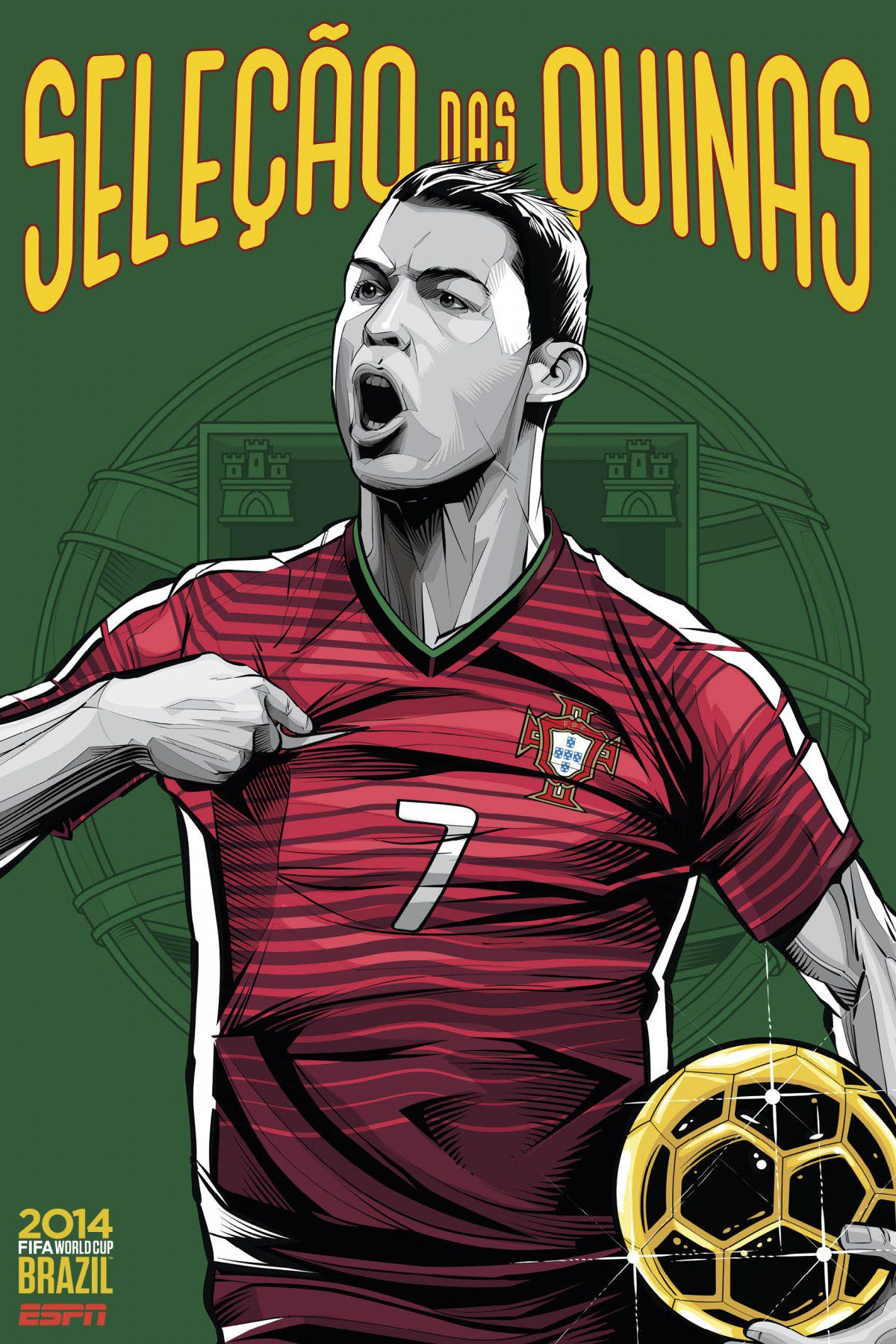ESPN poster world cup brazil 2014 of Portugal
