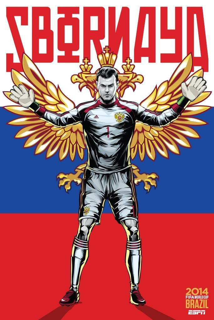 ESPN poster world cup brazil 2014 of Russia