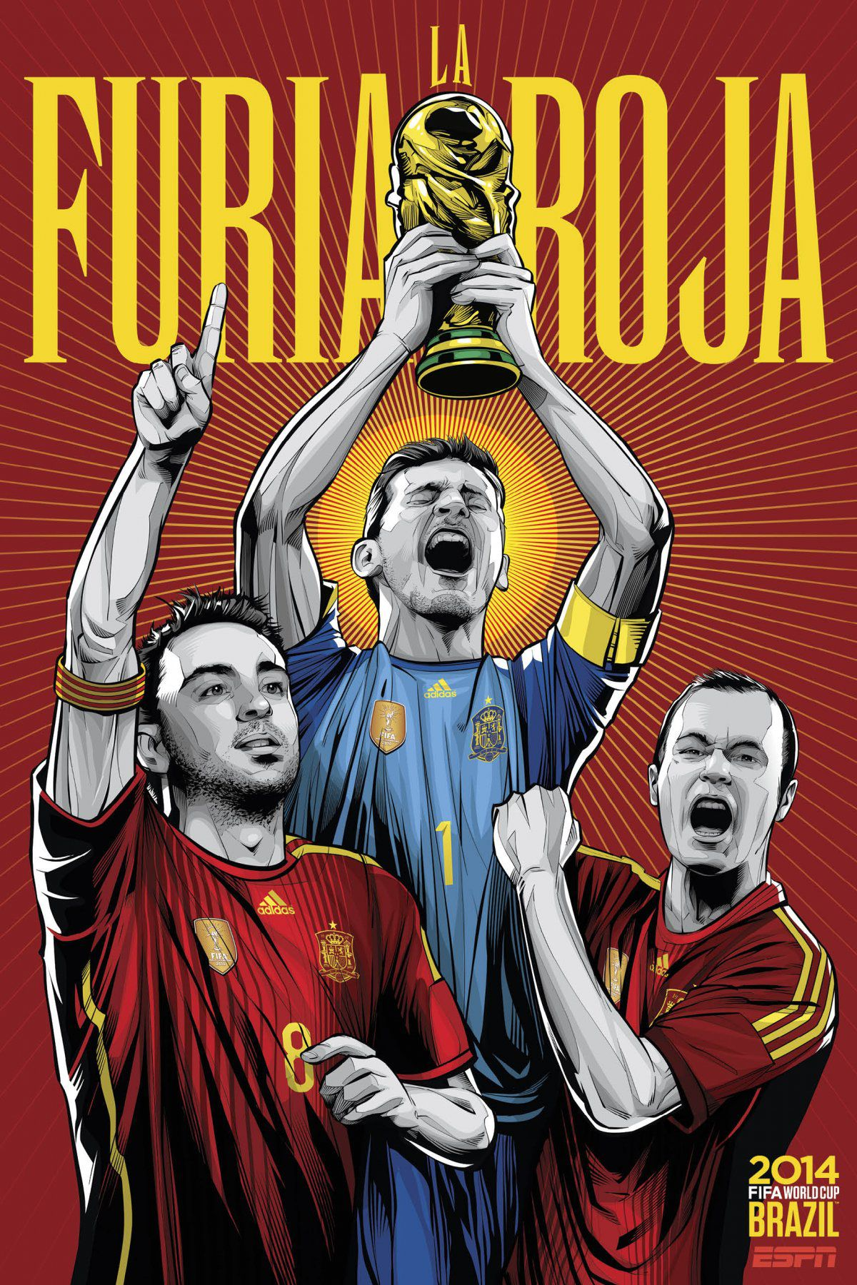 ESPN poster world cup brazil 2014 of Spain