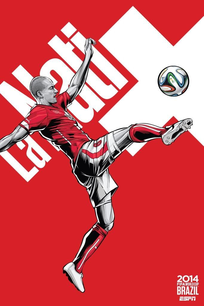 ESPN wordld cup poster brazil 2014 of Switzerland