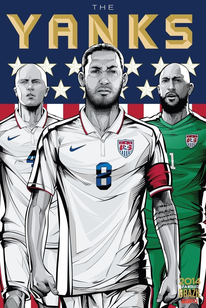 ESPN poster world cup brazil 2014 of United States