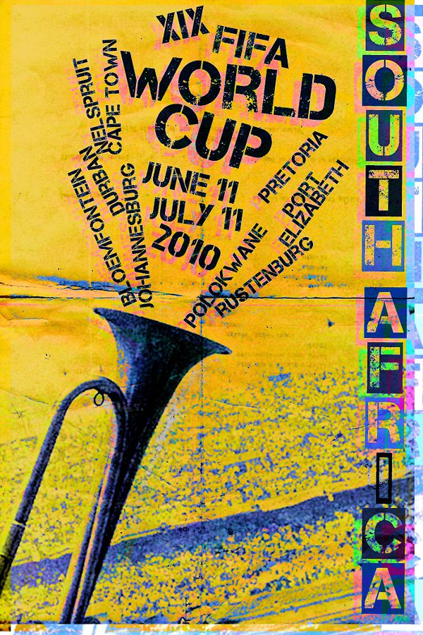 South Africa 2010 world cup fifa redesigned official poster illustation