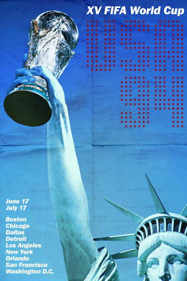 USA 1994 world cup fifa redesigned official poster illustation