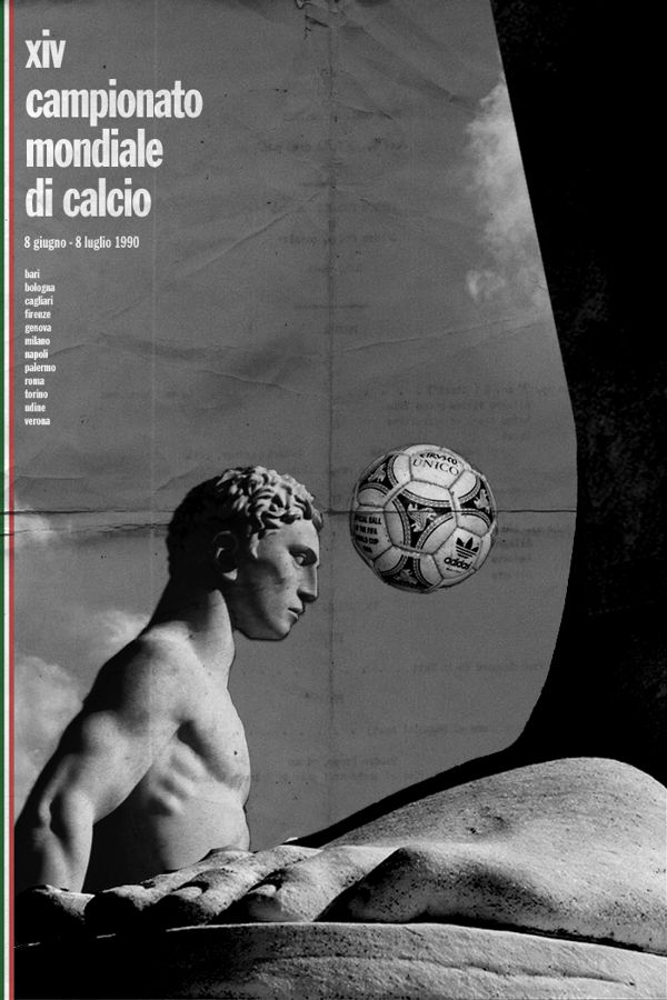 Italy 1990 world cup fifa redesigned official poster illustation