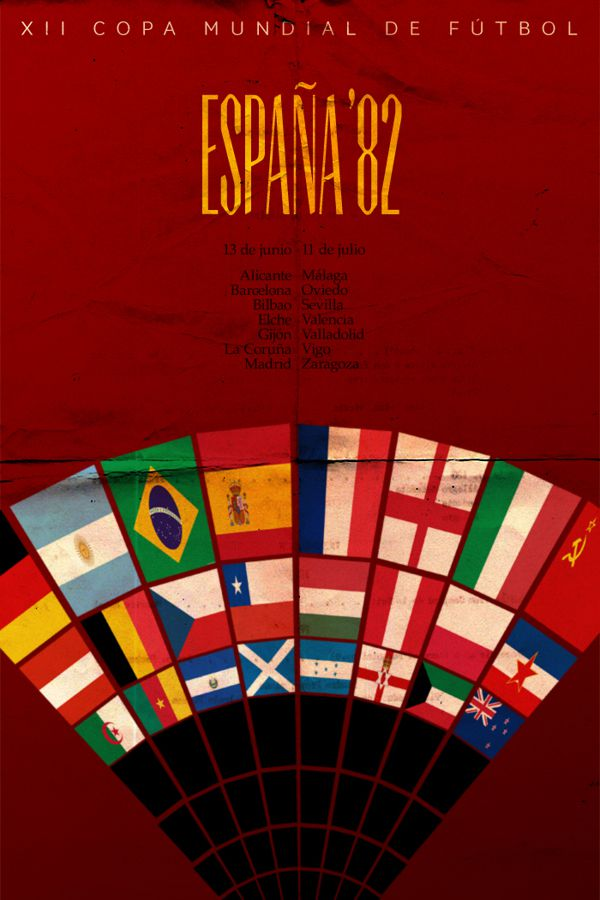 Spain 1982 world cup fifa redesigned official poster illustation