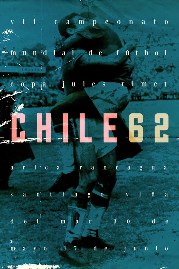 Chile 1962 world cup fifa redesigned official poster illustation