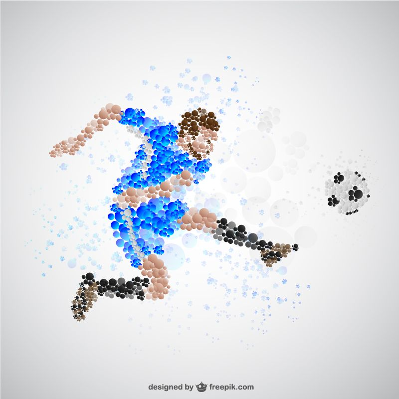world cup football pack 6 templates dotted
