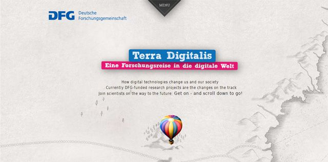 Terra Digitalis site demonstrates perfectly how parallax works best for presenting information Current Web Design Trends