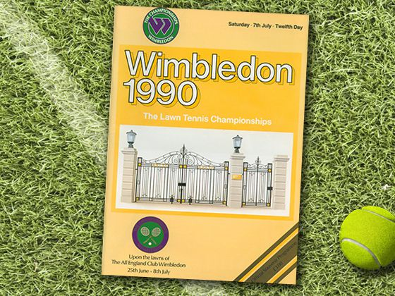 1990 Throughout advancements in technology allowed Wimbledon to provide more color illustrations