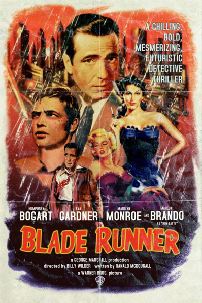 Blade Runner different time and place movie poster