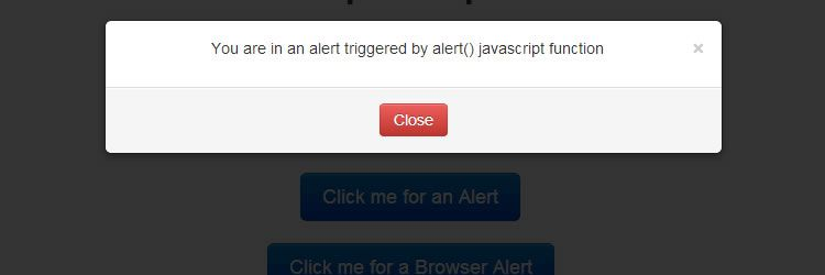 Bootstrap Prompts plugin replace basic alert